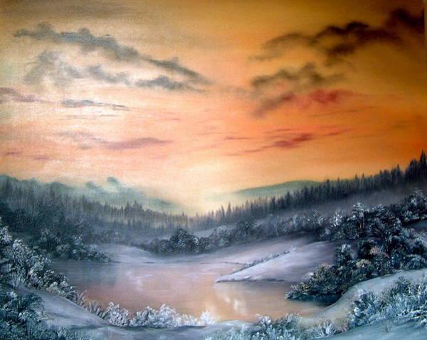 Pikes Peak Painting - Lake District by Jean Walker