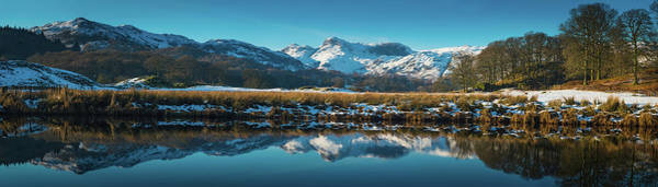 Pikes Place Wall Art - Photograph - Lake District Snowy Winter Mountain by Fotovoyager