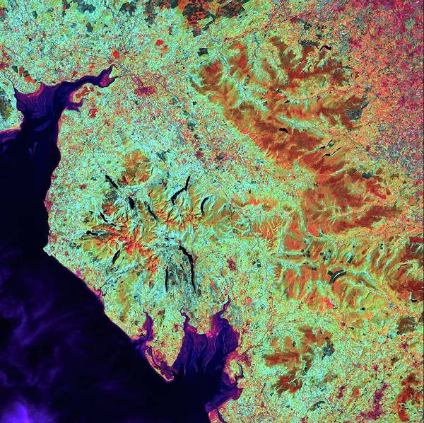 Lakes Region Photograph - Lake District by Us Geological Survey/science Photo Library