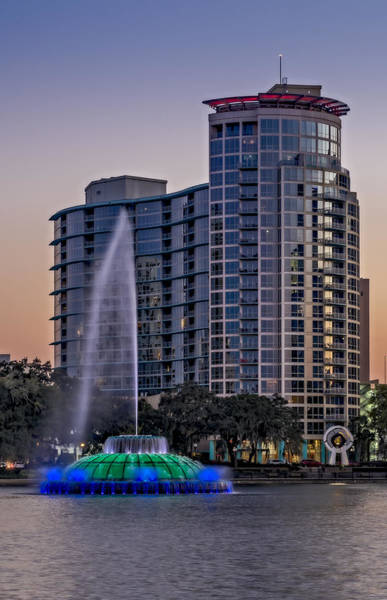 Photograph - Lake Eola Water Fountain  by Susan Candelario
