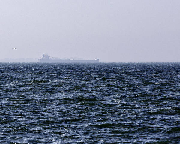 Photograph - Lake Erie Cargo Ship by Jack R Perry