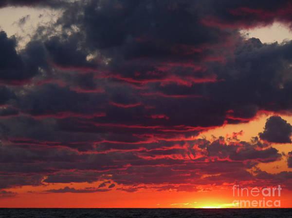 Digital Art - Lake Erie Sunset 08.17.12 by Kathryn Strick