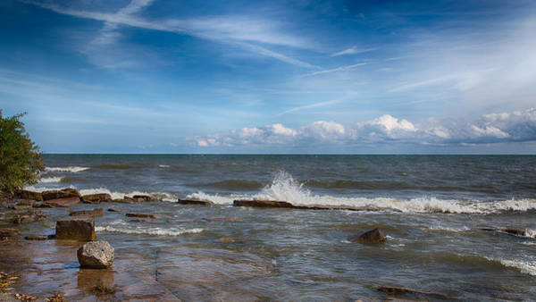 Photograph - Lake Erie Surf by John M Bailey