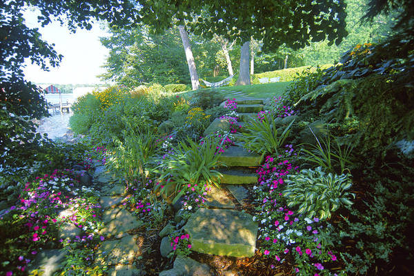 Photograph - Along The Shore Path - Lake Geneva Wisconsin by Bruce Thompson