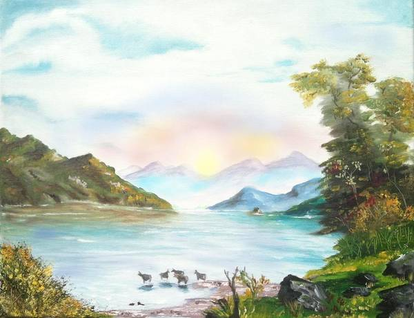 Adirondack Mountains Painting - Lake George Ny by Mark Brennan