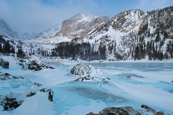 Photograph - Lake Haiyaha Winter by Cascade Colors