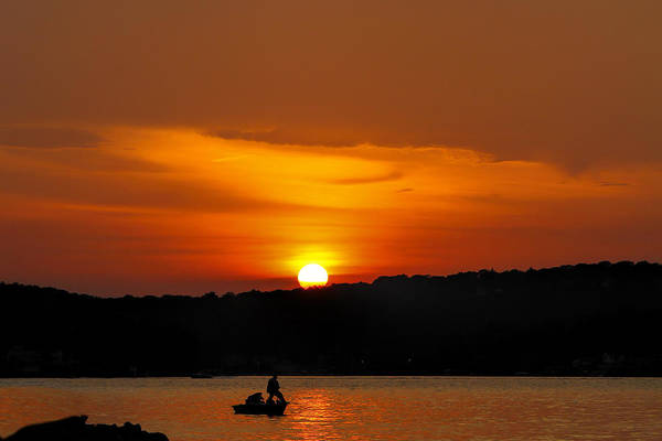 Photograph - Lake Hopatcong Sunset by Eleanor Abramson