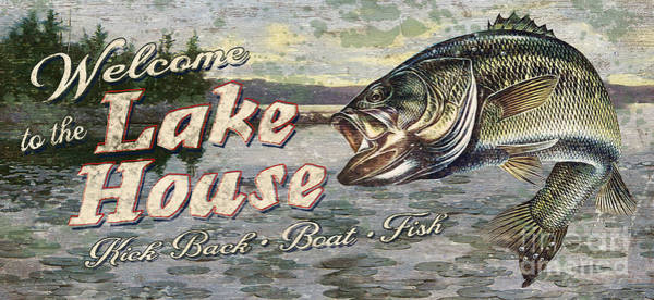 Painting - Lake House Bass by JQ Licensing