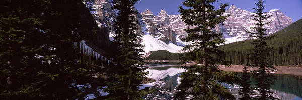 Peacefulness Photograph - Lake In Front Of Mountains, Banff by Panoramic Images