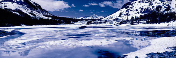 Inyo Mountains Photograph - Lake In Front Of Snowcapped Mountains by Panoramic Images