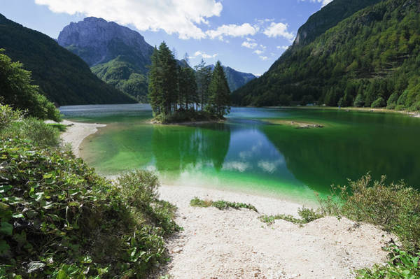 Friuli Photograph - Lake In The Alps by Franz Aberham