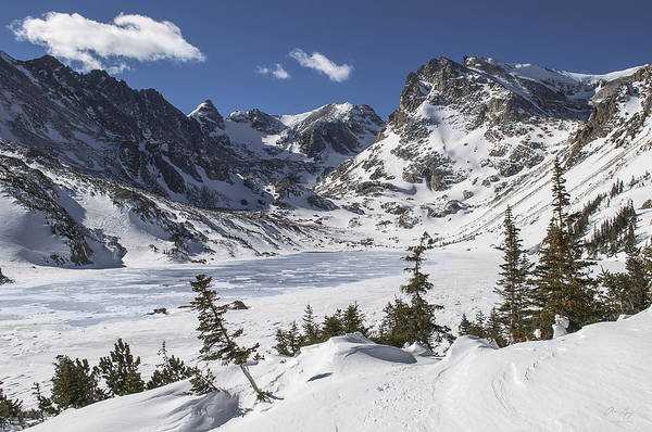 Indian Peaks Wilderness Photograph - Lake Isabelle by Aaron Spong