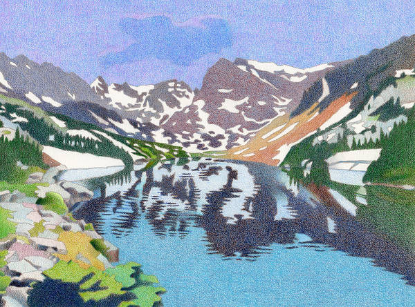 Drawing - Lake Isabelle Colorado by Dan Miller
