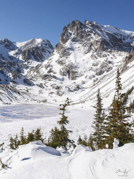 Indian Peaks Wilderness Photograph - Lake Isabelle Vertical by Aaron Spong