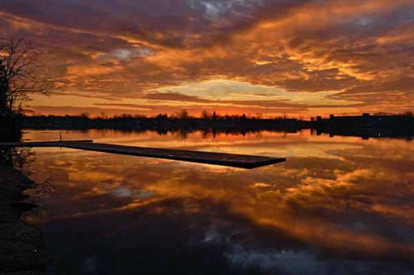 Lake Lenape Sunrise1 Art Print