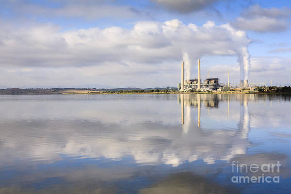 Cooling Tower Photograph - Lake Liddell Power Station Nsw Australia by Colin and Linda McKie
