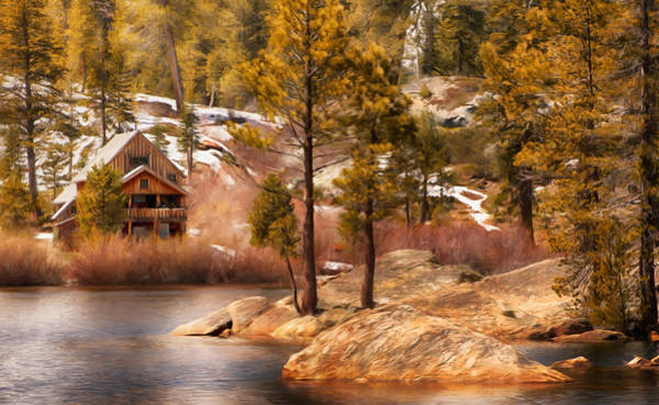 Photograph - Lake Lodge by Mick Burkey