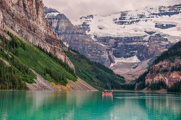 Wall Art - Photograph - Lake Louise Canoe by James Wheeler