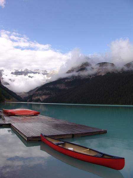 Wall Art - Photograph - Calm Canoeing Morning - Lake Louise, Banff, Alberta by Ian Mcadie