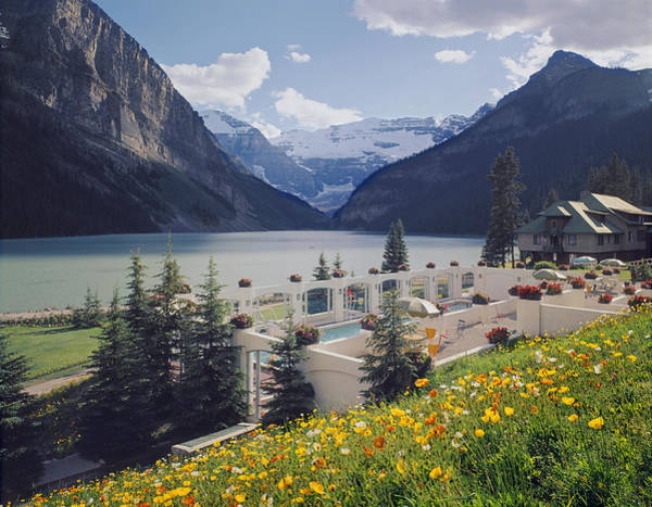 Photograph - 1m3520-h-lake Louise Chateau by Ed  Cooper Photography