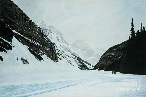 Wall Art - Painting - Lake Louise In April by Tova Main