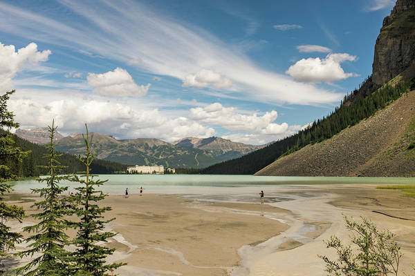 Distant Trees Wall Art - Photograph - Lake Louise In Banff National Park by Michael Hanson
