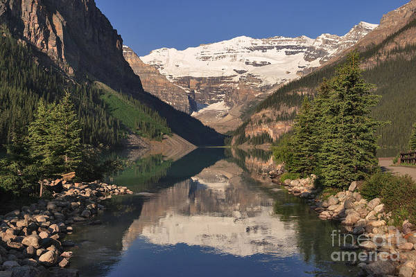 Photograph - Lake Louise Reflections by Charles Kozierok