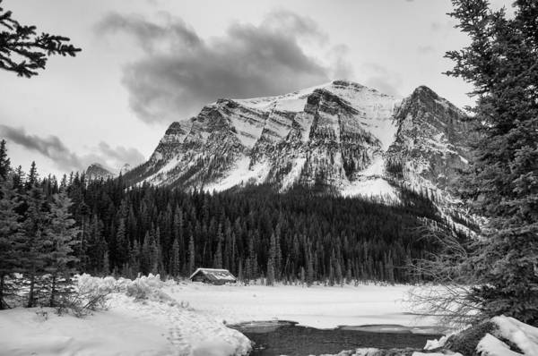 Photograph - Lake Louise Under Snow by Guy Whiteley