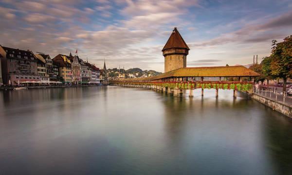 Chapel Bridge Photograph - Lake Lucerne, Switzerland by Glenn Driver