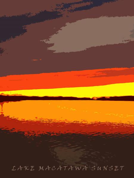 Photograph - Lake Macatawa Sunset by Michelle Calkins