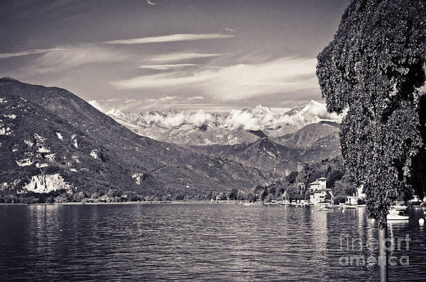 Photograph - Lake Maggiore Italy And Alps by Silvia Ganora