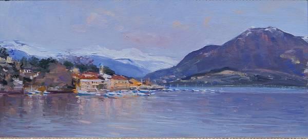 Painting - Lake Maggiore Italy by Sefedin Stafa