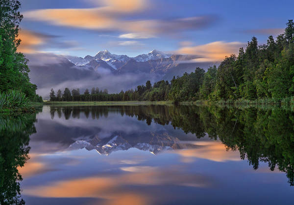 New Zealand Photograph - Lake Matheson by Hua Zhu