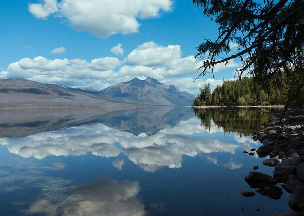 Photograph - Lake Mcdonald Reflections by John M Bailey