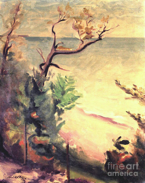 Painting - Lake Michigan 1930 by Art By Tolpo Collection