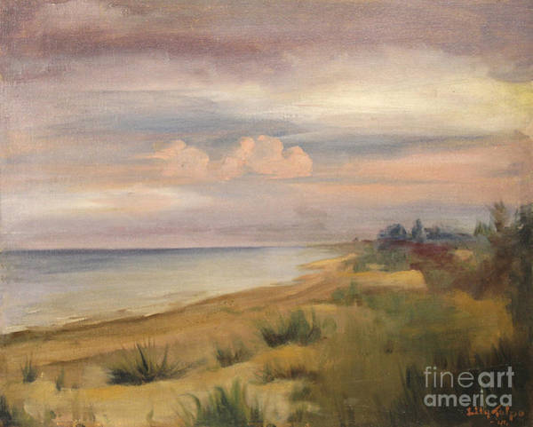 Painting - Lake Michigan Dunes 1941 by Art By Tolpo Collection
