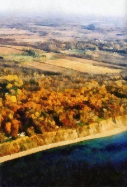 Photograph - Lake Michigan Shoreline In Autumn by Michelle Calkins