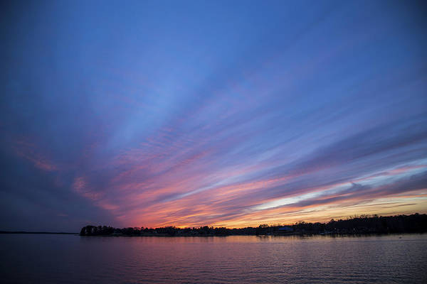 Photograph - Lake Murray Sunset-3 by Charles Hite