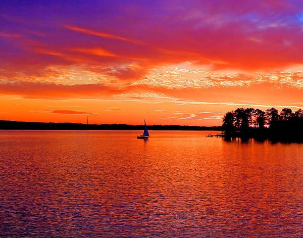 Wall Art - Photograph - Lake Murray Sunset by Joseph C Hinson
