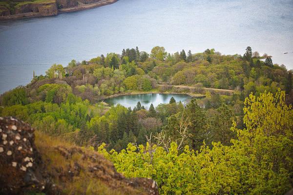 Rowena Photograph - Lake Near Mosier Oregon by Derrel Hewitt