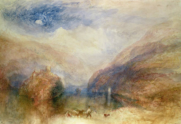 Castle Drawing - Lake Of Brienz by Joseph Mallord William Turner