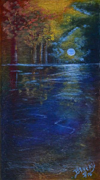 Wall Art - Painting - Lake Of Shadows by Donna Blackhall