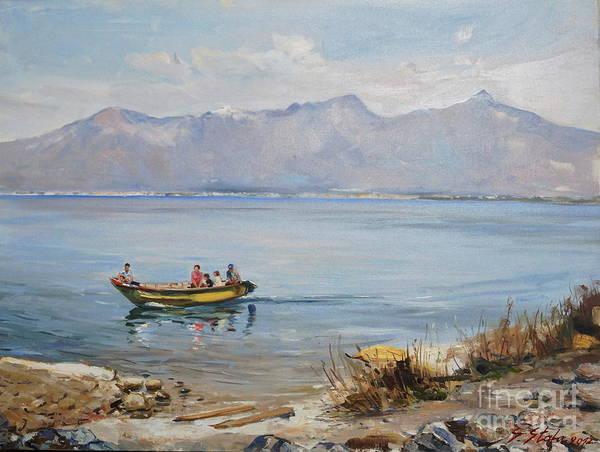 Painting - Lake Of Shkodra Zogaj by Sefedin Stafa