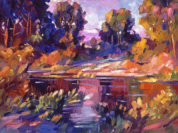 Painting - Lake Of Silence by David Lloyd Glover