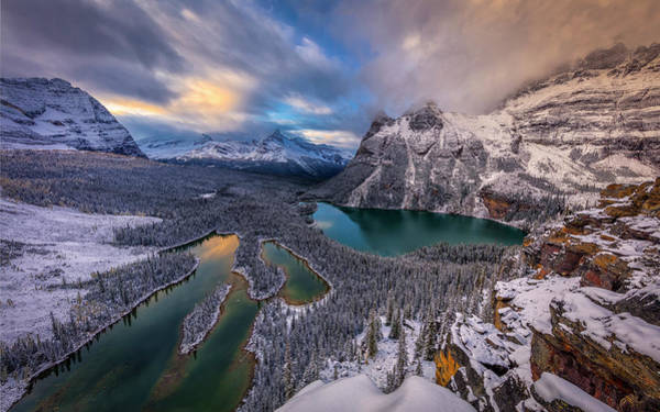 Seasonal Photograph - Lake Ohara by Michael Zheng