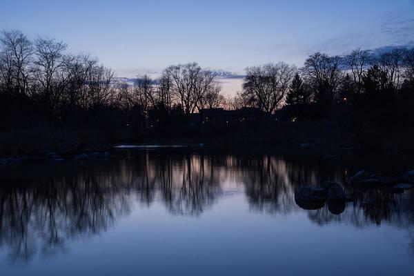 Photograph - Lake Ontario Blue Hour Infused With Purple by Georgia Mizuleva