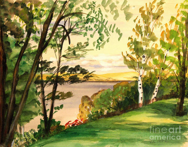 Painting - Lake Overlook Michigan by Art By Tolpo Collection