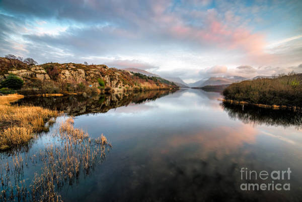 North Wales Wall Art - Photograph - Lake Padarn Sunset by Adrian Evans