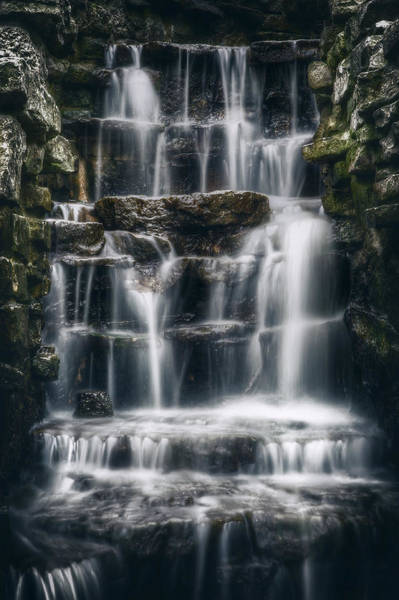 Moss Green Photograph - Lake Park Waterfall 2 by Scott Norris