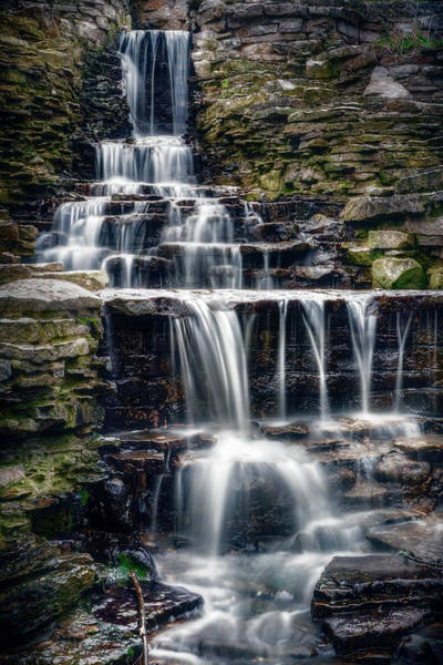 Moss Green Photograph - Lake Park Waterfall by Scott Norris